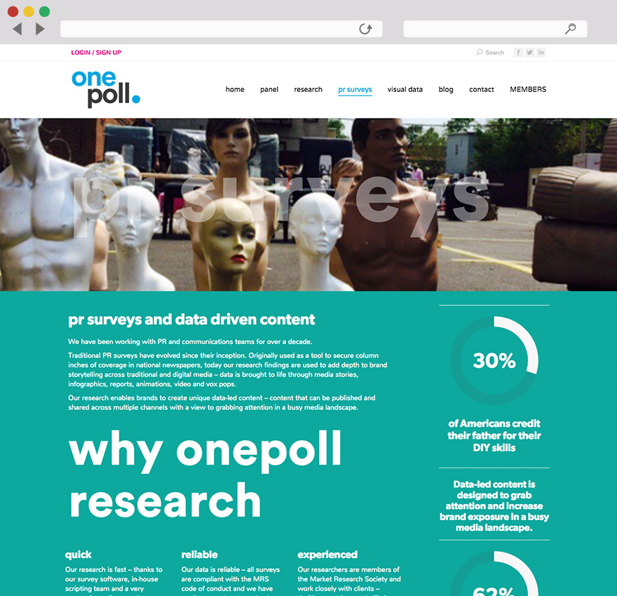OnePoll Website