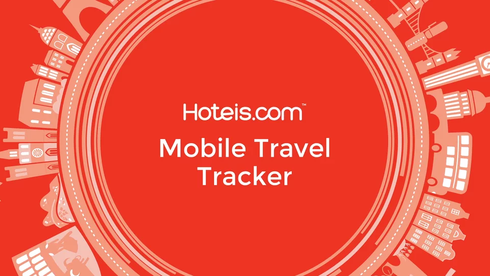 Hotels.com Mobile Travel Tracker campaign animation