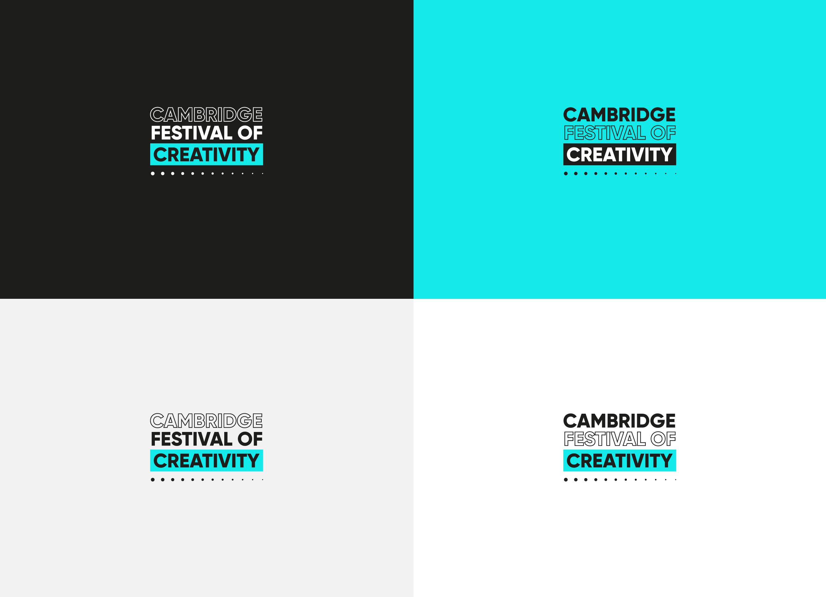 Cambridge Festival of Creativity Logos