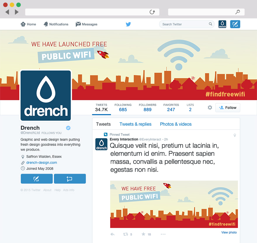 DCMS free wifi campaign twitter branding