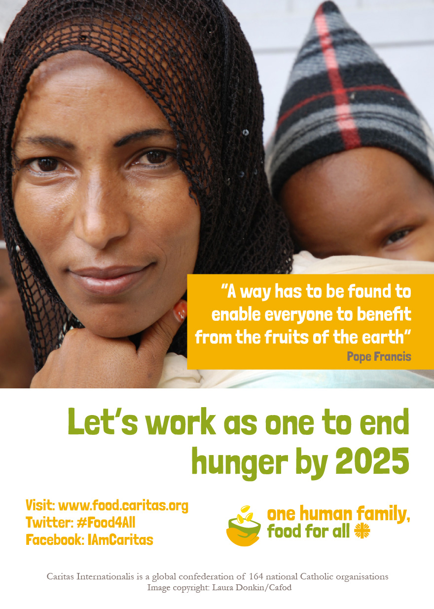 One Human Family, Food For All campaign poster