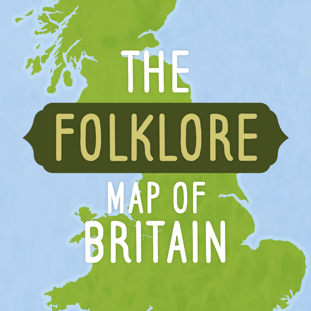 Drench Design | Center Parcs - The Folklore Map of Britain